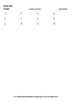 Worksheet for 4.OA.3-1.5 - Multiply to solve word problems involving multiplicat