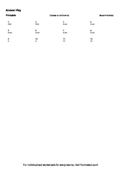 Worksheet for 4.OA.5-1.1 - Identify arithmetic patterns (including patterns in t