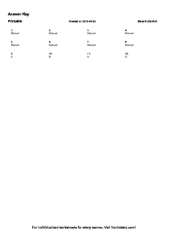Worksheet for 4.OA.5-2.0 - Identify apparent features of the pattern that were n
