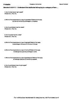 Worksheet for 5.G.4-1.1 - Understand that attributes belonging to a category of
