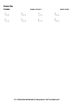 Worksheet for 5.NF.6-1.1 - Students must create a multiplication equation for a