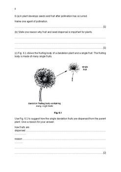 Worksheet for 5090 Biology  students