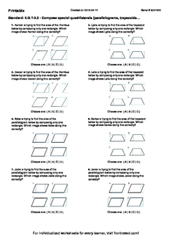 Worksheet for 6.G.1-3.2 - Compose special quadrilaterals (parallelograms, trapez