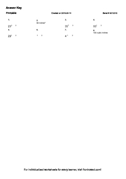 Worksheet for 6.G.2-2.3 - Students must multiply the edge lengths of the prism t