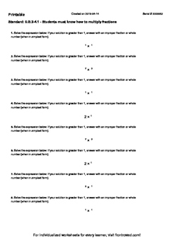 Worksheet for 6.G.2-4.1 - Students must know how to multip