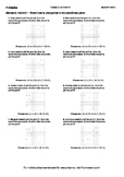 Worksheet for 6.G.3-2.1 - Know how to plot points in the coordinate plane
