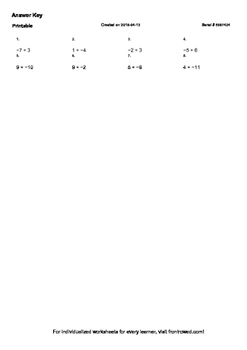 Worksheet for 7.NS.2B-2.0 - If p and q are integers, then