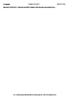 Worksheet for 8.EE.4-2.0 - Interpret scientific notation that has been generated