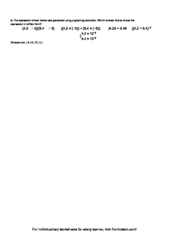Worksheet for 8.EE.4-2.2 - Students must know numbers in scientific notation app
