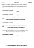 Worksheet for 8.F.4-1.5 - SWBAT quantify the initial value in a function, and id
