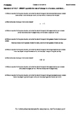 Worksheet for 8.F.4-2.1 - SWBAT quantify the rate of change in a function, and i