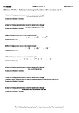 Worksheet for 8.F.5-1.1 - Students must recognize functions with a constant rate