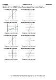 Worksheet for 8.F.5-1.6 - SWBAT tell the difference between linear and non-linea
