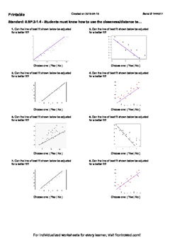 Worksheet for 8.SP.2-1.4 - Students must know how to use the closeness distance