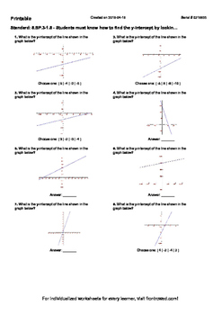 Worksheet for 8.SP.3-1.5 - Students must know how to find
