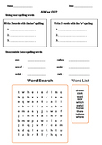 Worksheet for AW sound