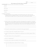 Worksheet for Arrogance and Cruelty of Power and Etymology worksheet