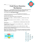 "Worksheet for Crash Course Chemistry ""Electrons"""