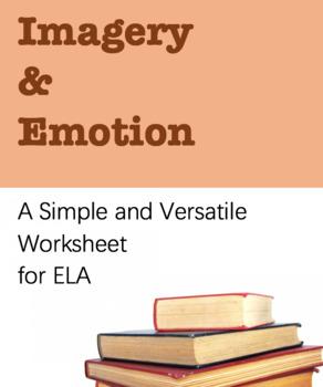 Worksheet for ELA, Versatile Tool. Identify Imagery, Types of Imagery, Emotion