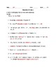 Worksheet for Eliminating Wordiness in Student Writing
