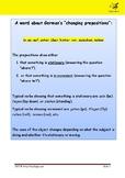 "Worksheet for German Preposition ""in"""