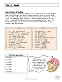 Worksheet for German Sounds Ä, E, I