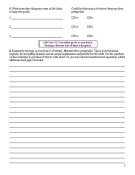 "Worksheet for ""Life Strategies for Teens"", Ch. Life Law 1 (extended)"