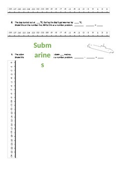 Worksheet for PowerPoint Adding and Subtracting Number Problems