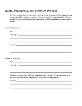 Free paraphrasing worksheets for 5th grade