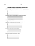 Worksheet for Verbal and Non-Verbal Communication