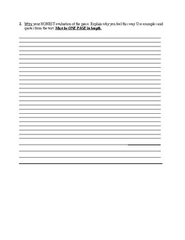 Worksheet for a Report on a Nonfiction Reading (SSR)
