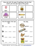 Math and Letter Sound Review Worksheet
