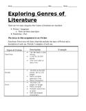 Worksheet for understanding Fiction