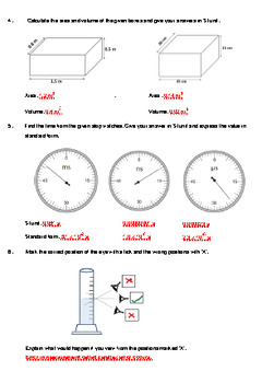 Worksheet on Basic Measurement-GCSE Curriculum