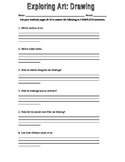 Worksheet on Drawing: using the Exploring Art textbook