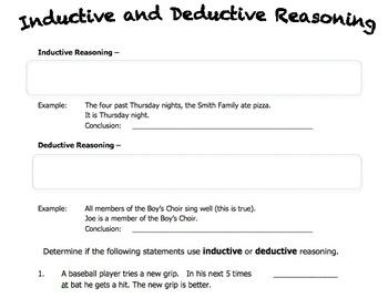 worksheet on inductive and deductive reasoning by rebecca horn tpt. Black Bedroom Furniture Sets. Home Design Ideas