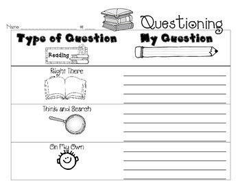 Worksheet on Questioning