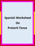 Worksheet on the preterit tense