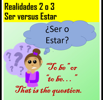 """Worksheet packet to practice """"ser"""" and """"estar"""" with adjectives"""