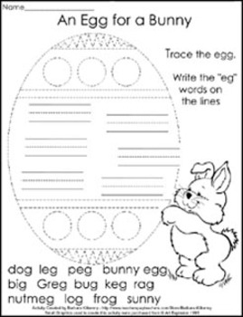 Worksheet pages - Easter Fun - 7 different pages