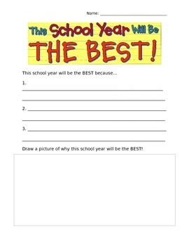 Worksheet that accompanies: This School Year Will Be the Best! by ...
