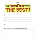 Worksheet that accompanies: This School Year Will Be the Best!
