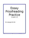 Worksheet to Practice Proofreading