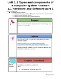 Worksheet to use with Unit 1 Hardware and Software, IGCSE ICT