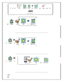 Worksheet - today, yesterday and tomorrow for SEN