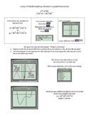 Changing the Viewing Window on Graphing Calculator Worksheet