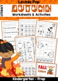 Autumn / Fall Literacy No Prep Worksheets and Activities