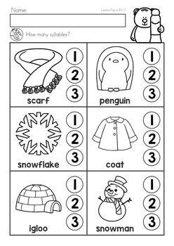 Winter Literacy Worksheets and Activities No Prep