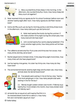 "Worksheets ""Addition Through 100""  - Common Core Aligned"