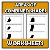 Worksheets - Areas of combined areas - Áreas compuestas